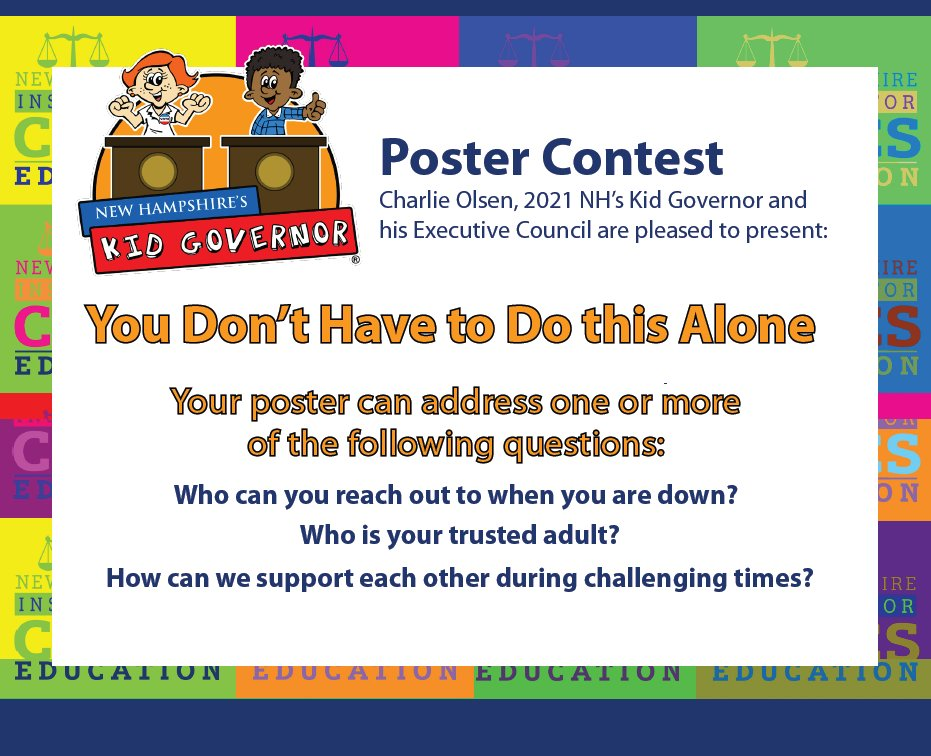 You Don't Have to Do This Alone Poster Contest